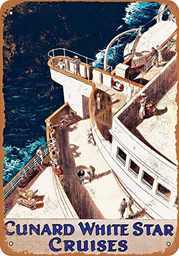 Cunard White Star Cruises Blechschilder Vintage Metall Poster Warnschild Retro Schilder Blech Blechschild Wanddekoration Malerei Bar Cafe Restaurant Garten Park -