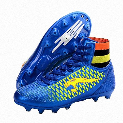 Ben Sports AG / FG Chaussures de Football Compétition Homme Chaussures de football garçon Mixte Enfant,33-46 bleu