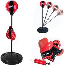 Standboxsack Verstellbar mit Boxhandschuhe PunchingTraining Box Punchingball