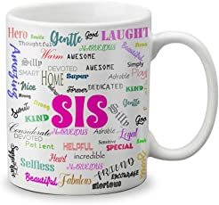 VESPL Rakshabandhan Special Gift Coffee Mug for Sister, 325ml (White)