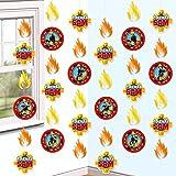 Sam El Bombero - Fireman Sam - Party - Adorno Colgante - Decoración 6 piezas