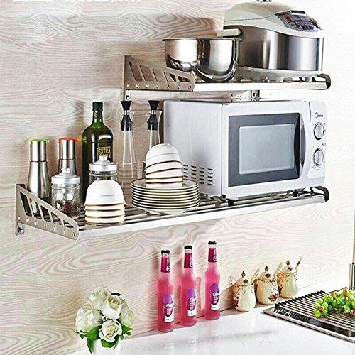 PENGFEI Estantes para soportes Estantería Colgante Cocina Baldas Horno De  Microondas Soporte Con Varilla Acero Inoxidable 7e8fcd67a227