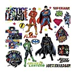 Justice League 28 stickers muraux Superman Batman Stickers de décoration de chambre DC Comics NEUF