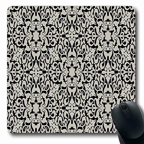Persisch Blume (Luancrop Mauspads Alte arabische arabische ununterbrochene Muster-Klipp-Teppich-Blumen-persische aufwändige viktorianische Entwurfs-rutschfeste Spiel-Mausunterlage Gummilangmatte)