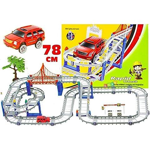 Grande Raceway macchina giocattolo veloce + sulle