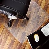 Marvelux - Tappetino Rettangolare per Sedia in policarbonato (PC), 120 x 130 cm, Protezione per Pavimenti duri, Colore: Trasparente