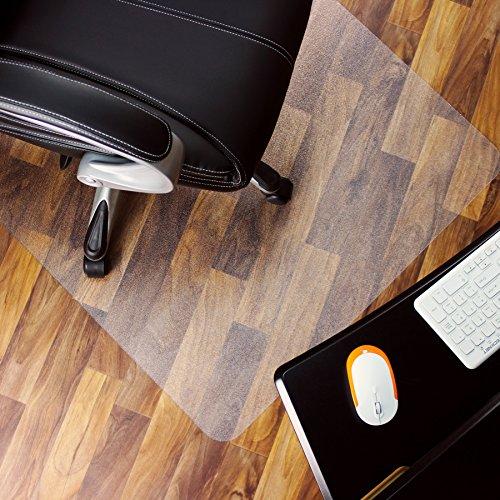 Marvelux Polycarbonat Bodenschutzmatte für Hartböden | 75 x 120 cm | rechteckig | transparent | in verschiedenen Größen erhältlich