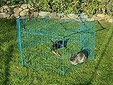Kaninchengehege, Dobar, einstöckig, 6-eckiges Freilaufgehege - 9