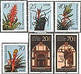 DDR 3149-3152,3153-3154 (kompl.Ausg.) 1988 Bromelien, Messe (Briefmarken für Sammler)