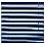 Alu Jalousie Aluminium Jalousette Klemmfix ohne Bohren Tür Fenster Rollo Lamellen Vorhang 10 Farben Breite 50 cm bis 240 cm Länge 130 cm 160 cm 220 cm Metall Klemmträger (120 x 160 cm Blau)