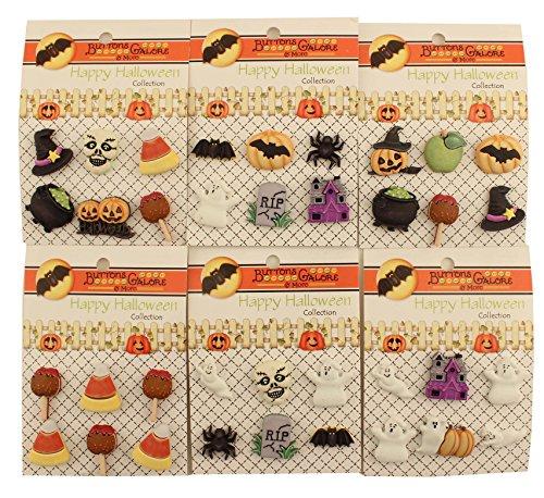 Buttons Galore Tasten Fülle, hhgroup Happy Halloween Tasten-Set von 6Karten -