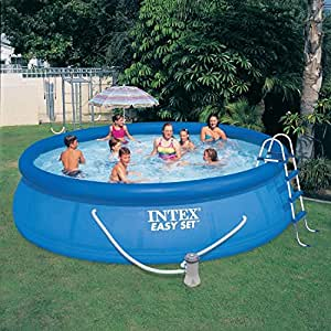 intex swimming pool easy set up pool 4 57m x 1 07m mit gs pumpe garten. Black Bedroom Furniture Sets. Home Design Ideas