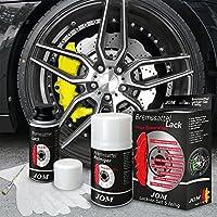 JOM 200001 Kit peinture d'étrier de frein, jaune, 1 composante, peinture d'étrier de frein 75ml, nettoyant de freins 250ml, brosse et gants