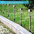 Solarleuchte Gartenleuchte LED Solarlampe 12 Stück Energiesparend IP65 Wasserdicht Edelstahl Ideal für Terrasse, Rasen, Garten Hofwege und Wege