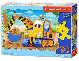 CASTORLAND Yellow Digger 30 pcs Contour Puzzle 30 Pieza(s) - Rompecabezas (Contour Puzzle, Dibujos, Preescolar, Niño/niña, 4 año(s), Interior)