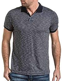 BLZ jeans - Polo homme fluide noir à motifs
