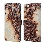 Head Case Designs Offizielle PLdesign Rostiges Metall Gewebe Holz Und Rost Drucke Brieftasche Handyhülle aus Leder für iPhone 6 Plus/iPhone 6s Plus