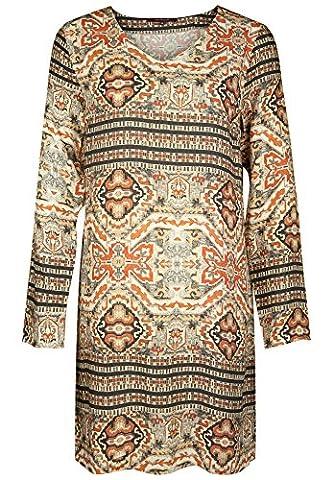 la fée maraboutée - Robe - Moulante - Manches Longues - Femme - multicolore - 34