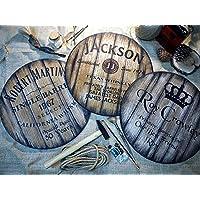 Artes Decorativas de Pared Personalizadas, 3 Estilos Diferentes de Barriles de Vino de la Cerveza & de Whisky para Elegir, Regalos Personalizados para Hombres, Madera Envejecida Hecha a Mano
