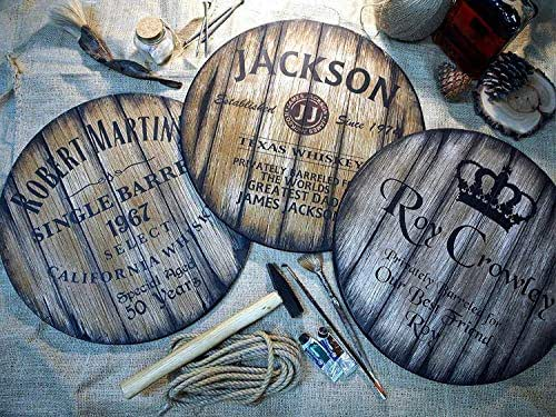 Insegne Decorative Personalizzate, 3 Diversi Stili di Whisky di Vino e Botti di Birra tra cui Scegliere, Regali Personalizzati per Uomo, Decorazioni Rustiche Fatte a Mano per Soggiorno, Bar di Casa