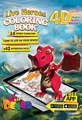 Devar Kids Realidad Aumentada libro de colorear - Live Heroes Coloring Book