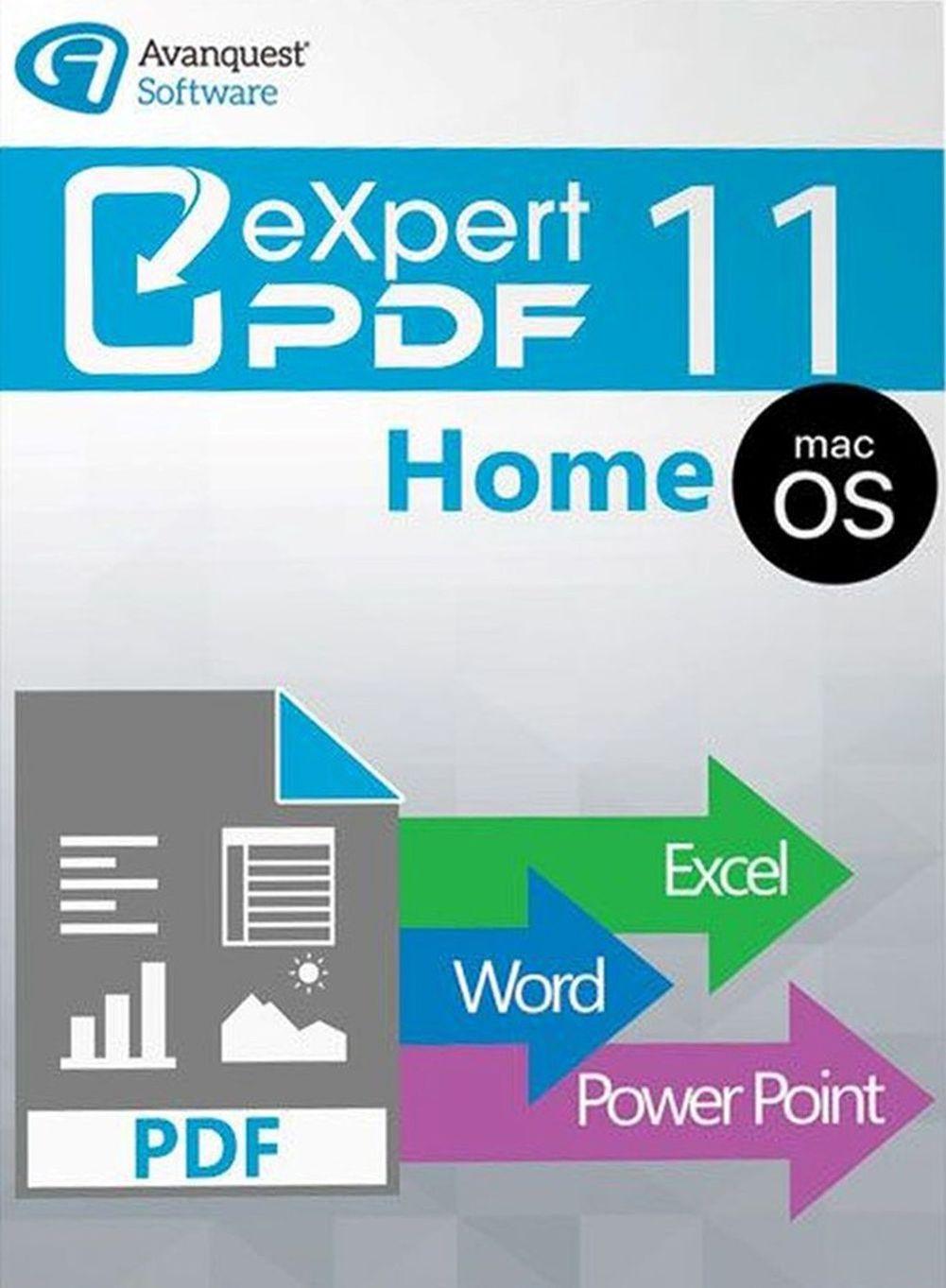 eXpert PDF 11 Home für Mac - Bearbeiten Sie Ihre PDF-Dateien einfach, schnell und präzise! Auch für MacOS High Sierra [Online Code]
