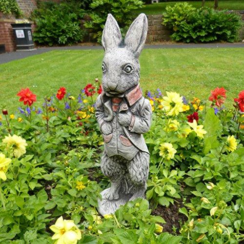 Peter Coniglio Decorazione da giardino/Scultura/Statua in pietra fatto a (Easter Bunny Ornamento)