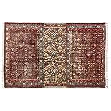 Loberon Teppich Campbell, Baumwolle, H/B ca. 200/300 cm, rot, hochwertige Qualität, Vintage-Stil