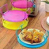 Bureze cucina microonde doppio strato piatto piastra di copertura cremagliera del vassoio strumento