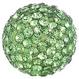 Morella® Damen Engels Klangkugel Zirkonia grün Ø 16 mm