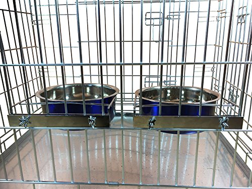 Ellie-Bo-Pair-of-Dog-Bowls-for-CratesCages-or-Pens-Large-20-Litre-Blue