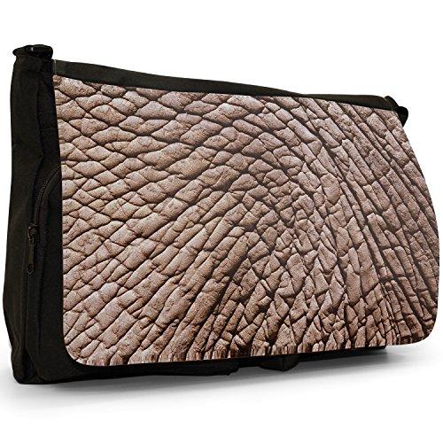 Fancy A Bag Borsa Messenger nero Tiger Skin Elephant Skin