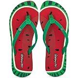 SOLETHREADS Watermelon | Fun | Cute | Printed | Beach | Light | Flip Flops for Women