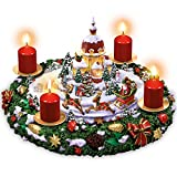 The Bradford Exchange Sankt Nikolaus' leuchtender Weihnachtstraum - Adventskranz