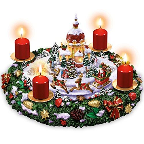 The Bradford Exchange Sankt Nikolaus' leuchtender Weihnachtstraum – Adventskranz