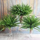 Auntwhale Farn mit Wicker Dekorative Seide Pflanze für Home Hochzeit Büro Party Dekoration
