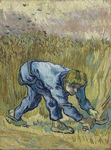 JH Lacrocon Van Gogh - Reaper Mit Sichel Nach Hirse Leinwandbilder Reproduktionen Gerollte 50X65 cm - Figur Gemälde Gedruckt Wandkunst