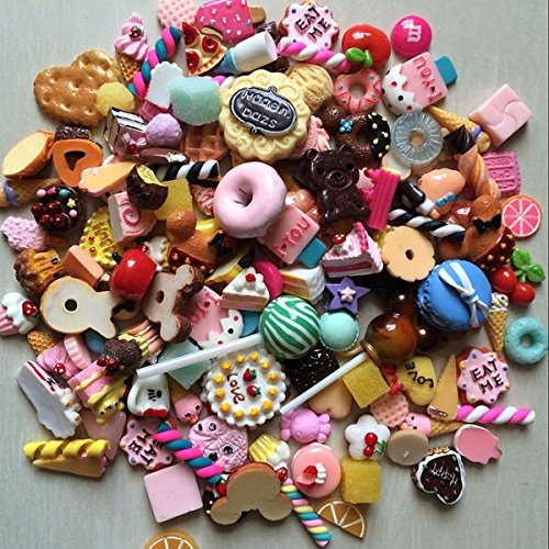 ZOOOAH 10 Unids Miniatura Pretende Juguete Comida Cocina Galletas Donuts para Barbie Decoración del Teléfono Móvil