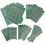 WINGONEER 25PCS / 5 tamaño placa de circuito impreso doble placa de circuito de panel de paneles de prototipos para DIY soldadura