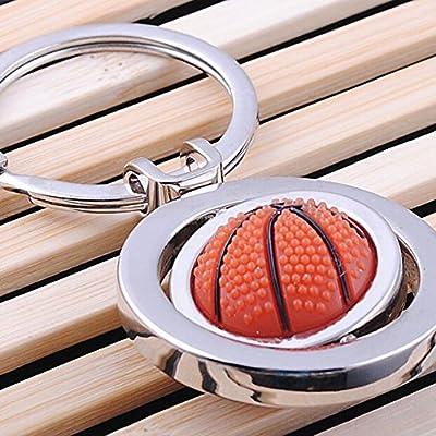 Skyeye Creative Basketball Shape Keychain Rotating Key Chain Ring Bag Car Pendant Purse Keyrings