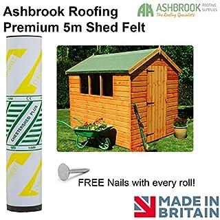Ashbrook Roofing Super Grade 5m Shed Felt Polyester Reinforced - Green Mineral
