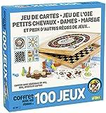 Smir - Coffret en Bois 100 Jeux - Jeu de Société