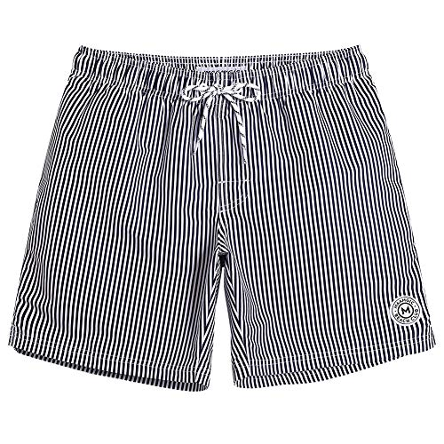 MaaMgic Herren Badeshorts für Jungen Kurz Vielfarbig Schnelltrocknend Beachshorts MEHRWEG Grau XL