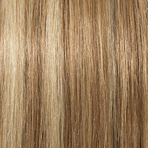 20cm-55cm Extension Capelli Veri Clip 100% Remy Human Hair Tessitura con Clips Full Head Parrucca Vera (45cm-100g,#12/#613 Marrone Chiaro/Biondo Chiarissimo)