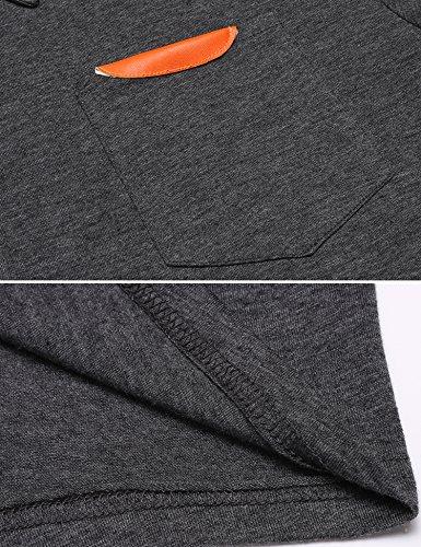 Burlady Poloshirt Tshirt Herren Polohemd Langarmshirt Sweatshirt Sport Langarm Shirts Freizeit Polokragen Männer Viele Stile F-Dunkelgrau