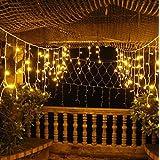 Sannysis® 120 LED hadas de la secuencia solar de luz LED para el banquete de boda de Navidad (Amarillo)