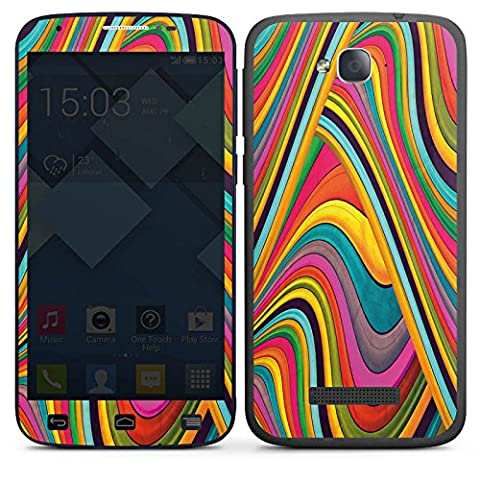 Alcatel One Touch POP C7 Autocollant Protection Film Design Sticker Skin Couleurs Bandes