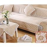 KA-ALTHEA- algodón europeo de espesor cojín del sofá de tela moderna minimalista cuatro estaciones se deslizan bahía cojín funda de sofá ventana cubierta de sofá toalla (sección B) -El amortiguador del sofá conjuntos de sofás Funda ( Tamaño : 70*210cm )