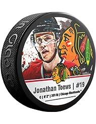 JONATHAN Toews NHL Chicago Blackhawks Player Souvenir Puck
