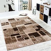 Designer Rug Living Room Rug Retro Pattern in Brown Beige Unbeatable Deal from Paco Home